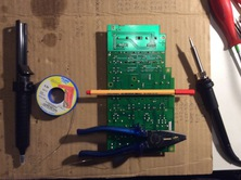 tools: solder pump, thin 0,5mm solder, sth to mark, sth heavy, soldering iron