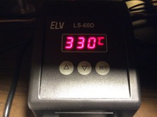 cheap soldering irons heat up to 400°C , the MPC will stand it! Don't worry, be quick!