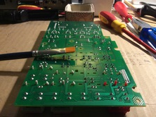 I used this to remove rests of solder lying around on the circuit board